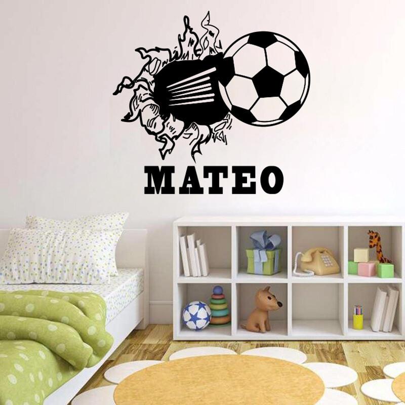 Balon rompiendo la pared con nombre personalizable DJFUT01