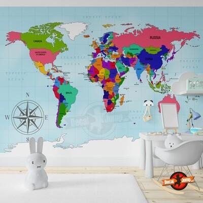Mapa Mundi de Colores DJIMPMAP02