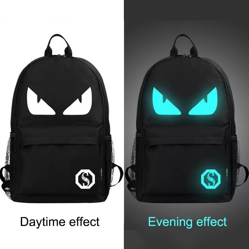 Glow in the dark Backpack with USB