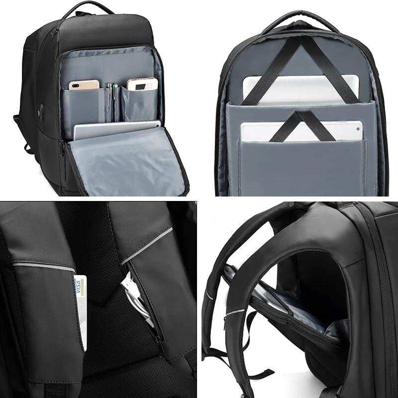 Multi functional design laptop backpack