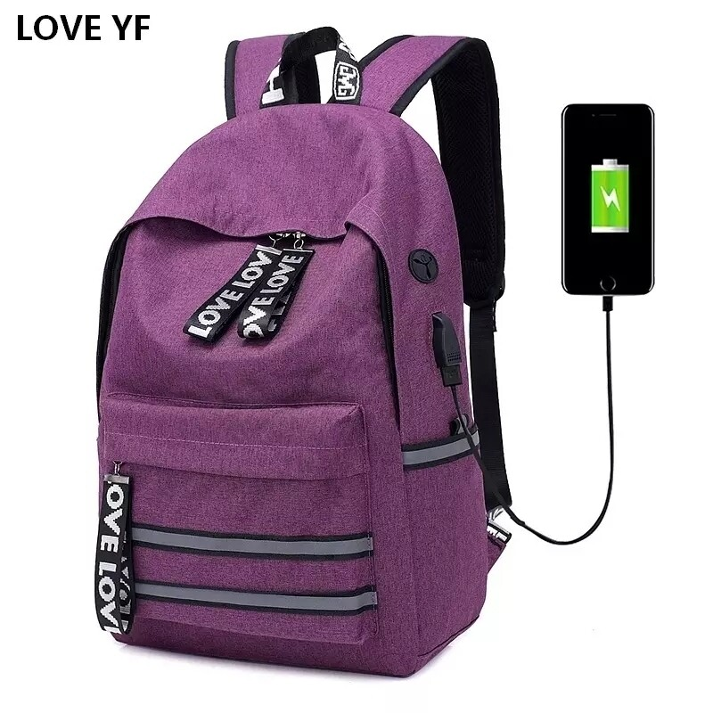 Water proof backpack with USB ports