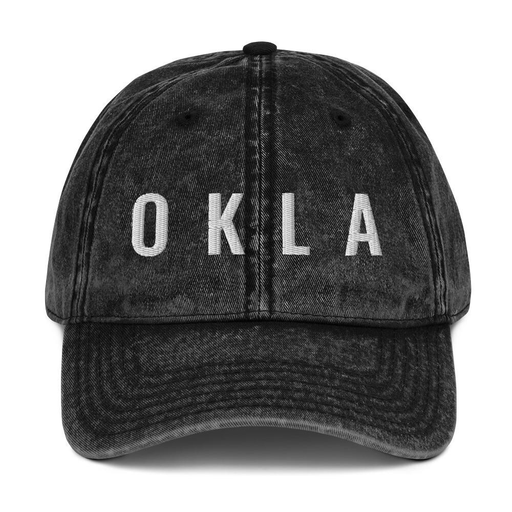 OKLA Vintage Cotton Twill Cap