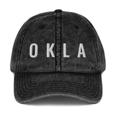 OKLA Vintage Cotton Twill Cap