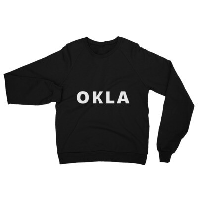 OKLA Unisex California Fleece Raglan Sweatshirt