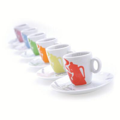 Hausbrandt Designer Cappuccino Cups - Set of 6