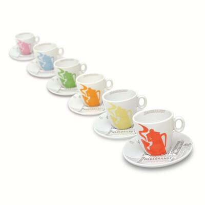 Hausbrandt Designer Espresso Cups - Set of 6