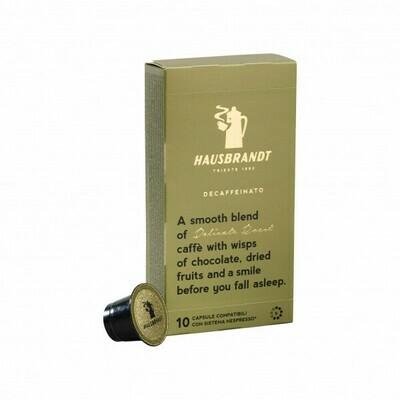 Hausbrandt Decaffeinato Coffee Capsules  (Nespresso® Compatible)