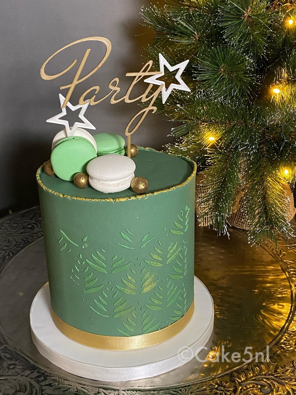 Limited Edition Kersttaart Kleur Groen