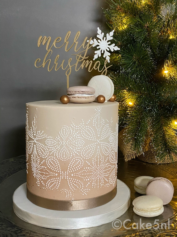 Limited Edition Kersttaart Kleur Beige