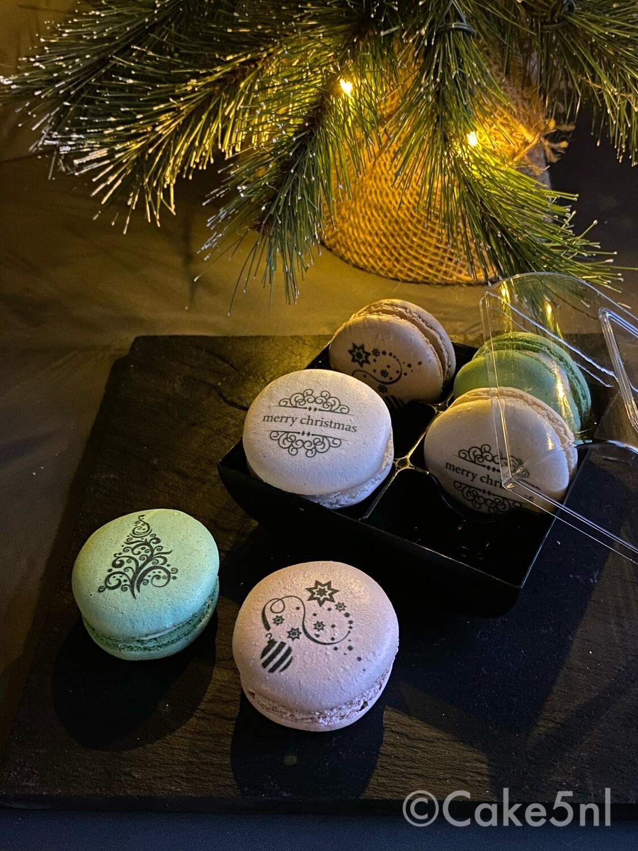 Kerst editie Foto macarons