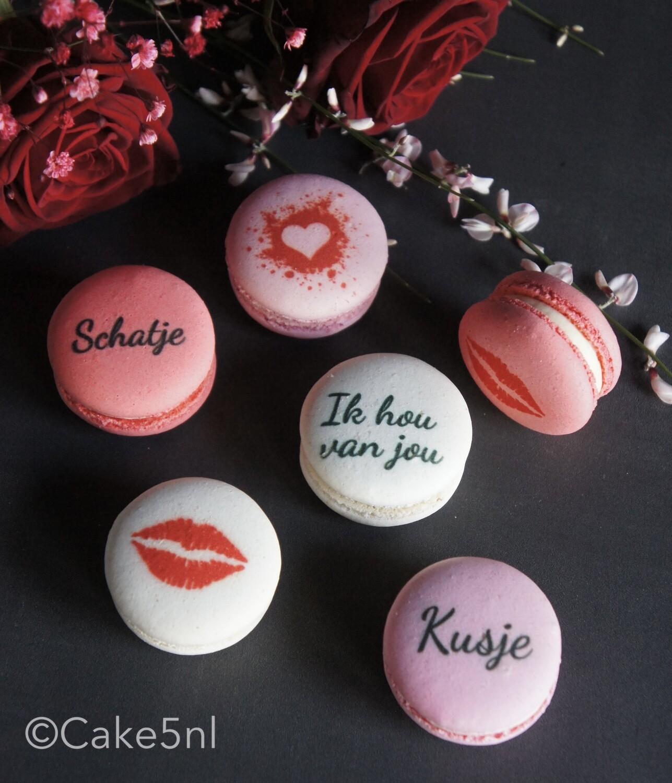 Macarons Valentijn