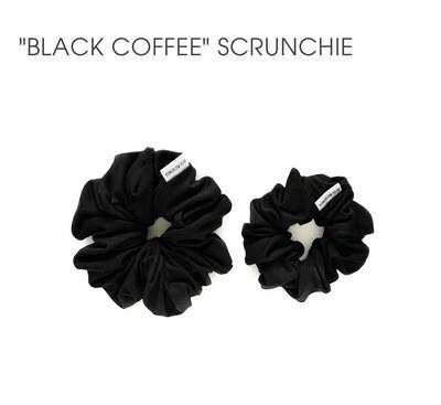 Black Coffee Scrunchie - Large