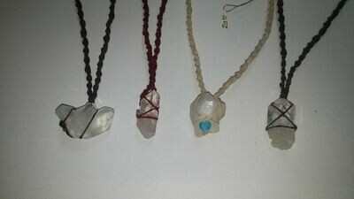 Jett - Wrapped Stone Necklace