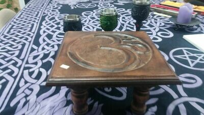 Square 12x12 Wooden Altar Table