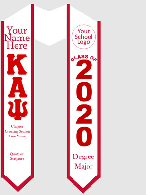Kappa Alpha Psi Graduation Stole Greek Letters