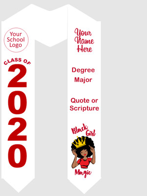 Black Girl Magic Predesigned Graduation Stole