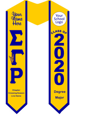 Sigma Gamma Rho Graduation Stole with Hand Sign