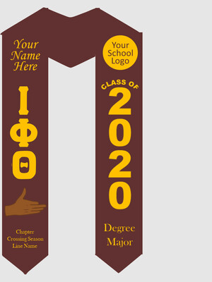 Iota Phi Theta Graduation Stole with Hand Sign