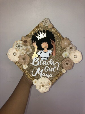 Grad Cap Topper Black Girl Magic
