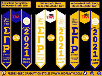 Sigma Gamma Rho Predesigned Graduation Stole