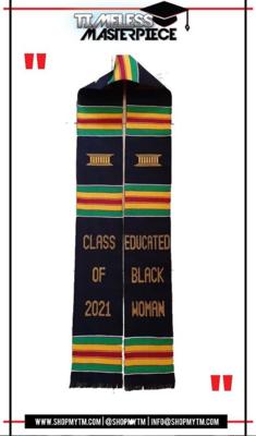 Educated Black Woman Kente Stole