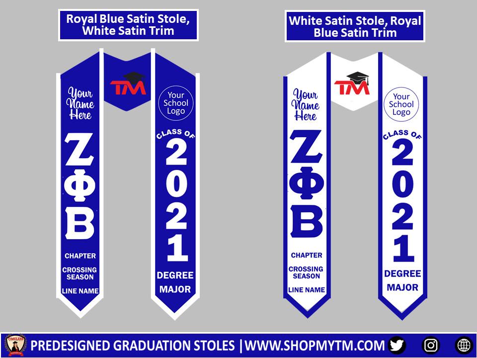 Zeta Phi Beta Predesigned Graduation Stole