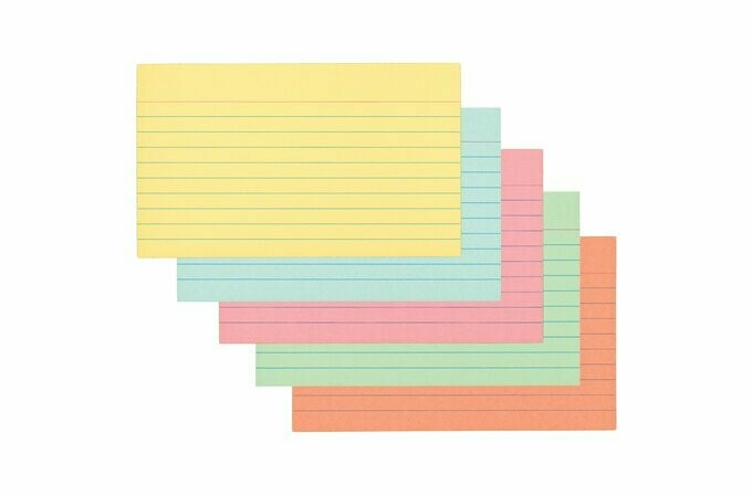 Index Cards 3x5 70 Ruled Color Mead
