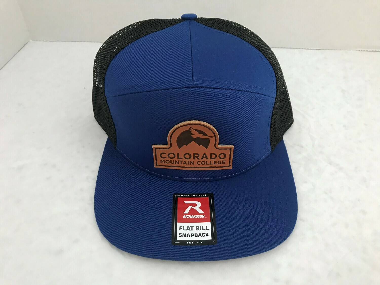 Richardson 7 Panel Hat With Leather Patch