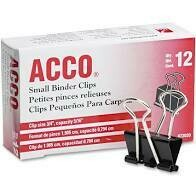 Acco Binder Clips Assorted
