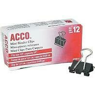 Acco Binder Clips Small
