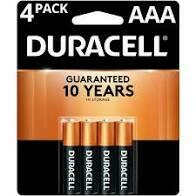Battery AAA 4 Pack Duracell