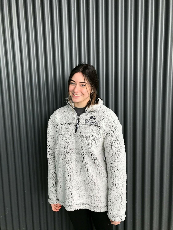 Unisex Sherpa Fleece Quarter-zip Pullover FrstGrey