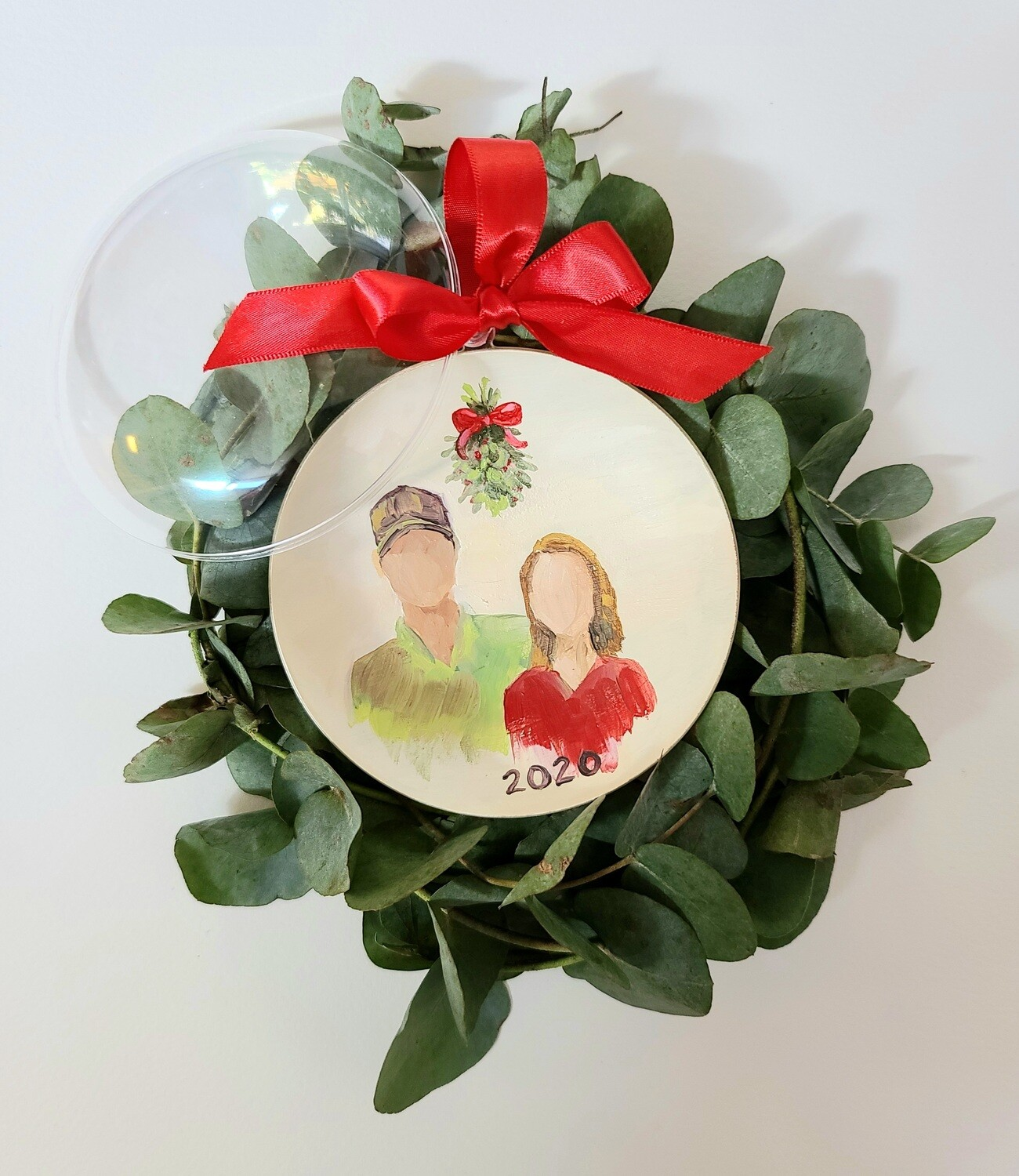 Under the Mistletoe Ornament (Preorder shipping by Dec 10)
