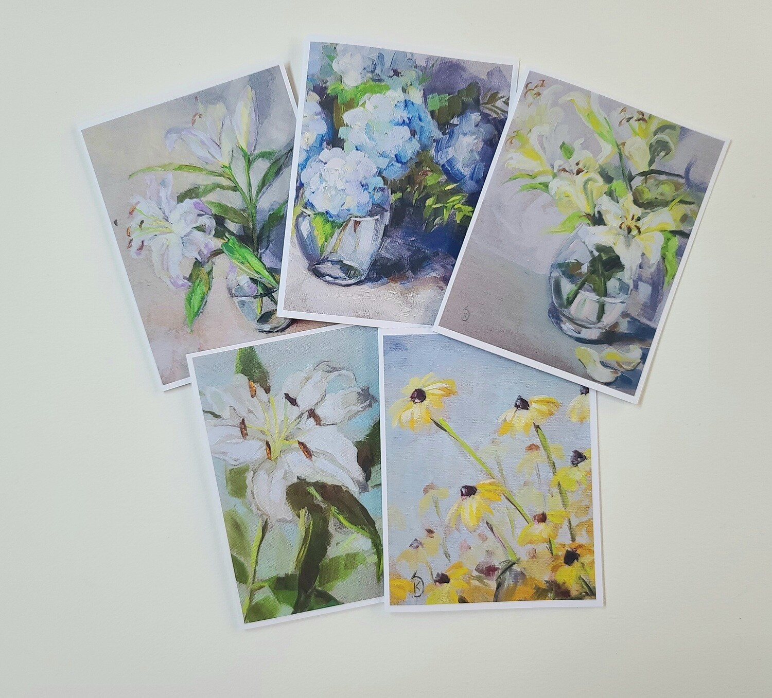 Floral Greeting Cards (set of 5)