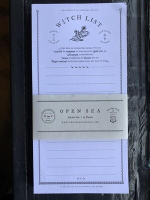 Witch List Market Pad