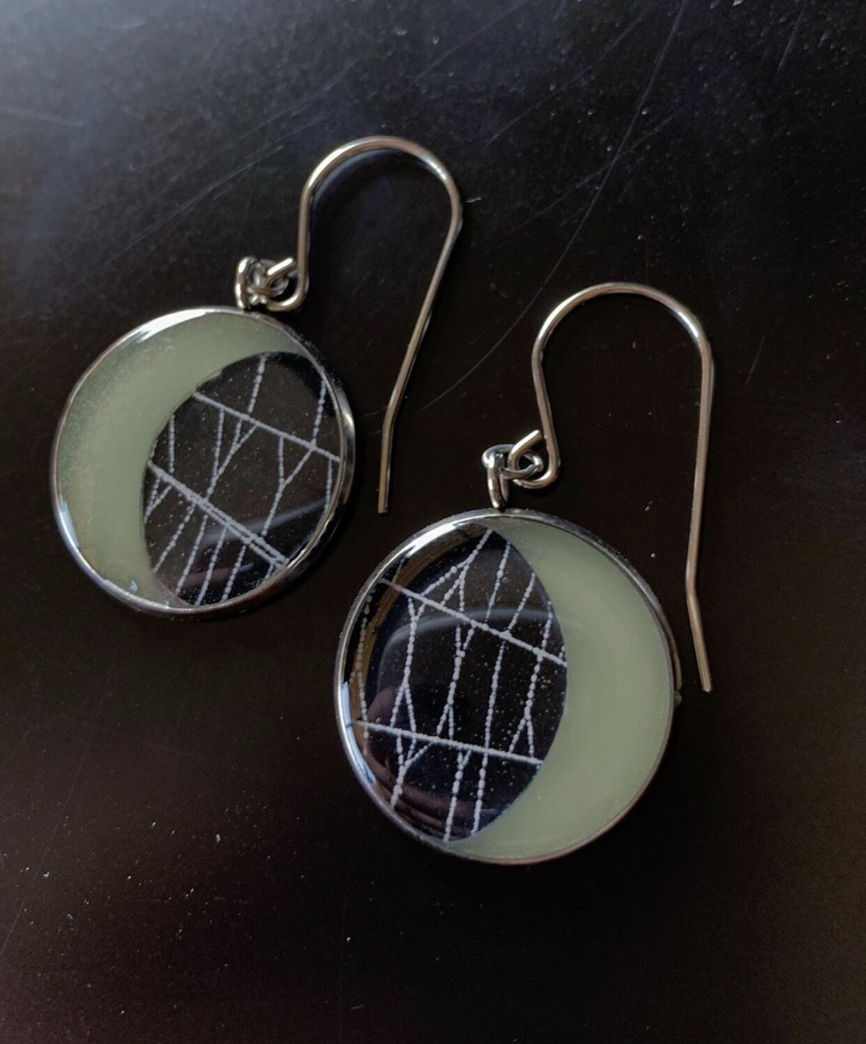Spiderweb Earrings Glowindark Moon