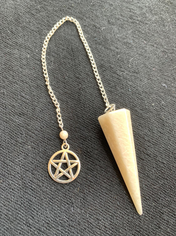 Moonstone Pendulum w/ Pentacle