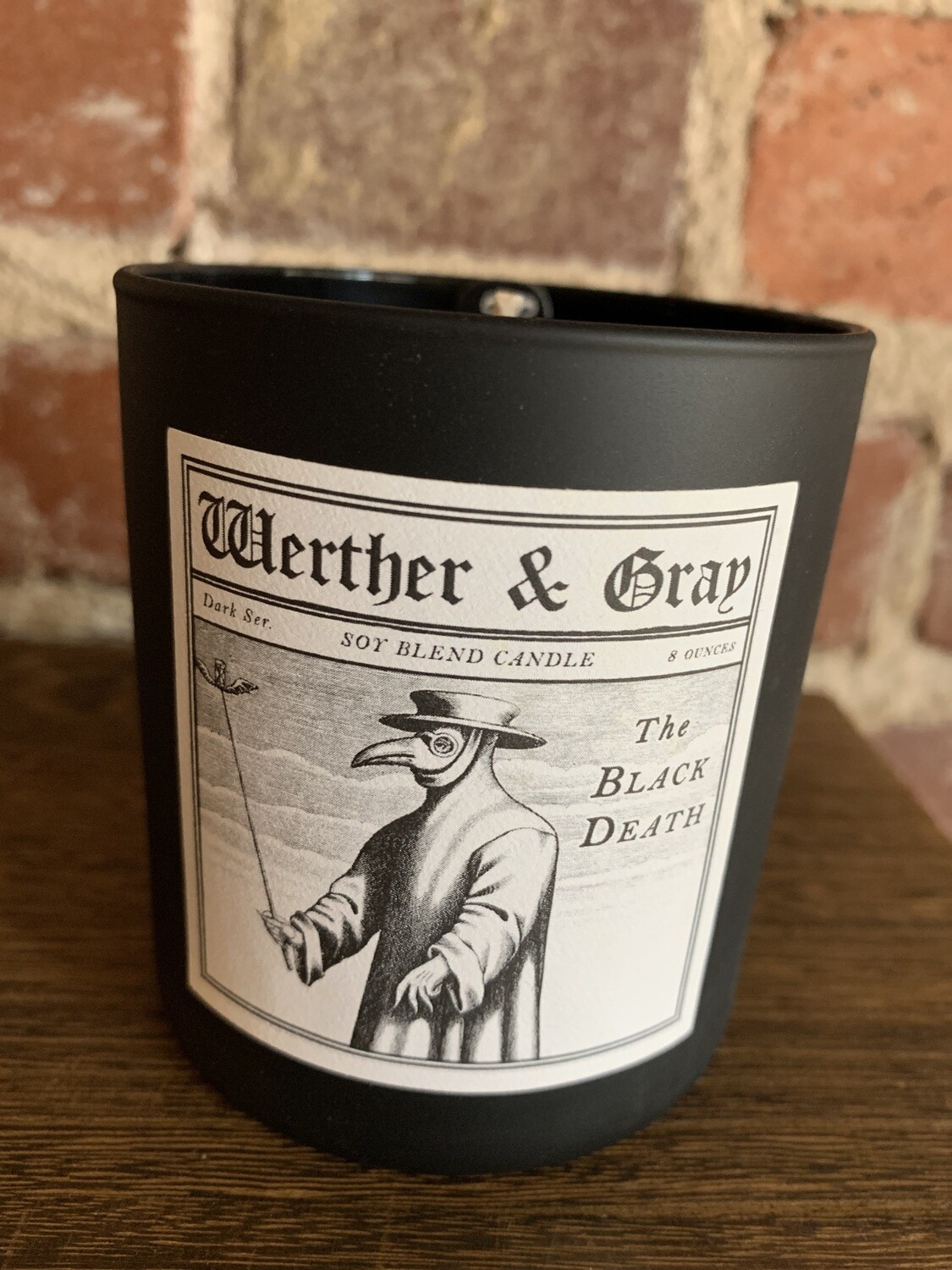 Werther & Gray Black Death Candle