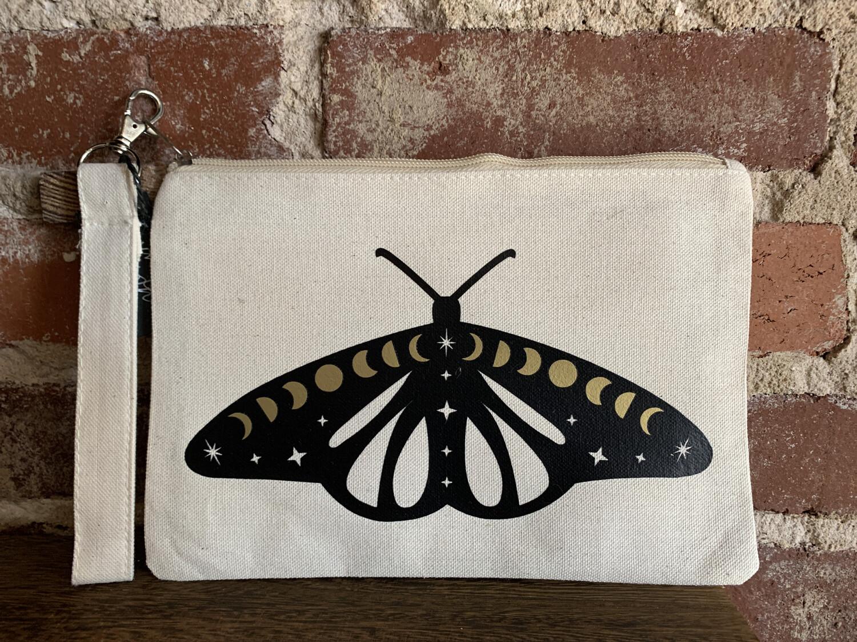 Cosmic Moth Zipper Pouch