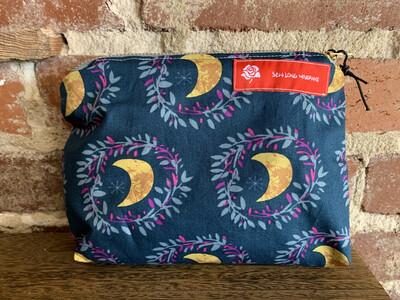 Crescent Moon Zipper Bag