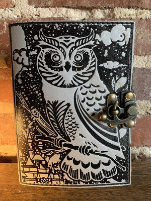 Black & Silver Owl Journal