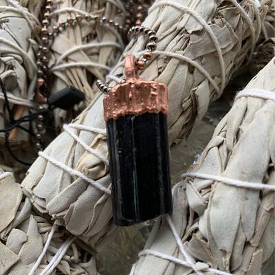 Black Tourmaline pendant Necklace