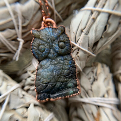 Labradorite Owl Necklace