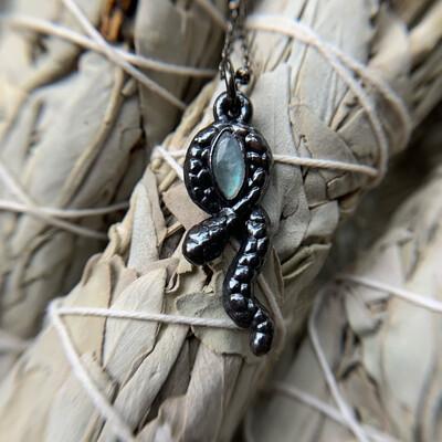 Moonstone Snake Necklace