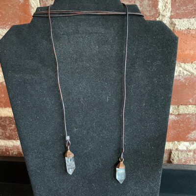 Leather Lariat Necklace