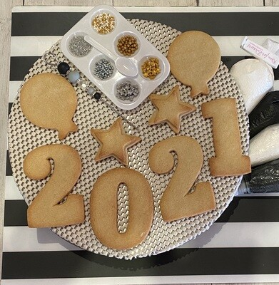 New Year's Eve Cookie Decorating Kit