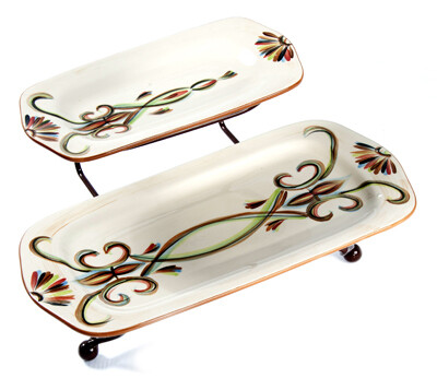 Vieux Carre Iron Stand with Platters