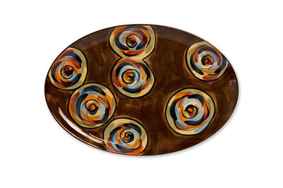 """Chinatown 16"""" Oval Serving Platter"""