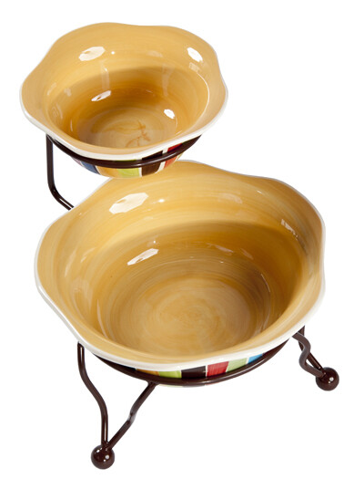 Tango Iron Stand with Bowls