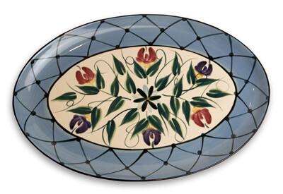 """Annabelle 16"""" Oval Serving Platter"""